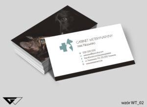 Tanie wizytówki dla weterynarza zwierzęta, kot, pies