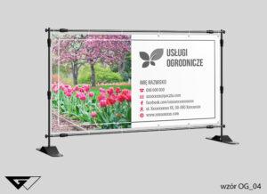 Baner dla architekta zieleni tulipany, kwiaty, ogród, wiosennie