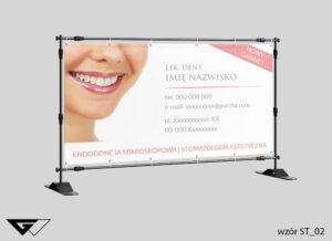 Baner stomatologia, gabinet stomatologiczny, indywidualny projekt, zdjęcie