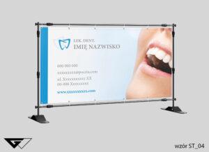 Baner stomatologia, szybko, profesjonalnie, ze zdjęciem, projekt indywidualny, elegancki