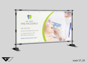 Baner stomatologia, szybko, profesjonalnie, ze zdjęciem, projekt indywidualny