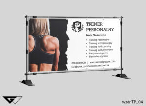 Baner dla trenera personalnego kobieta, mężczyzna