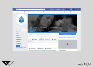Tło na facebook firma sprzątająca, szybko, zdjęcie w tle, projekt indywidualny, tanio