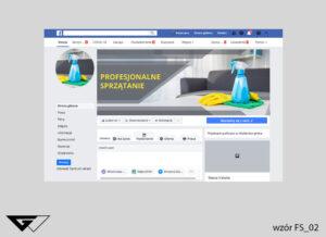 Tło na facebook profesjonalne sprzątanie, zdjęcie, szybka realizacja, indywidualny projekt, tanio