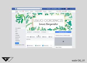 Tło na facebook dla ogrodnika przyroda, profesjonalizm, liście, zielone, szybka realizacja