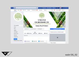Tło na facebook dla ogrodnika przyroda, profesjonalizm