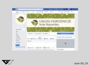 Tło facebook usługi ogrodnicze, rolnicze, rysunkowe, narzędzia ogrodnicze