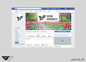 Tło na facebook dla architekta zieleni tulipany, kwiaty, ogród, wiosennie