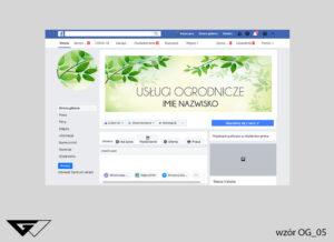 Tło na facebook projektowanie zieleni listki, rośliny, zielone