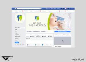 Tło na facebook stomatologia, szybko, profesjonalnie, ze zdjęciem, projekt indywidualny