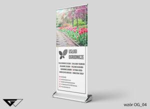 Rollup dla architekta zieleni tulipany, kwiaty, ogród, wiosennie