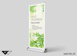 Rollup projektowanie zieleni listki, rośliny, zielone