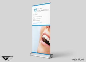 Rollup stomatologia, szybko, profesjonalnie, ze zdjęciem, projekt indywidualny, elegancki