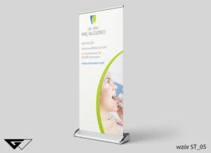 Rollup stomatologia, szybko, profesjonalnie, ze zdjęciem, projekt indywidualny