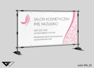 Baner salon kosmetyczny, kwiaty, obrazek w tle, szybka realizacja_wizualizacja