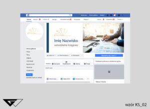 Tło na facebook samodzielny księgowy, zdjęcie, szybka realizacja
