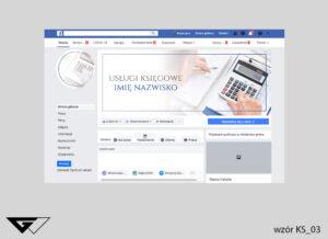 Tło na facebook usługi księgowe, kalkulator, projekt indywidualny, szybka realizacja