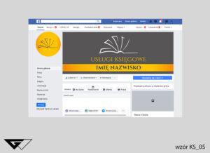 Tło na facebook usługi księgowe, rysunek, podatki, tanie wykonanie