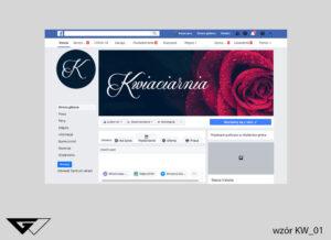 Cover na facebook kwiaciarnia, róża, eleganckie, szybka realizacja, indywidualny projekt