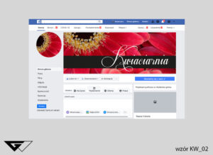Cover na facebook kwiaciarnia, klasyczne, czarne, czerwone kwiaty, szybka realizacja