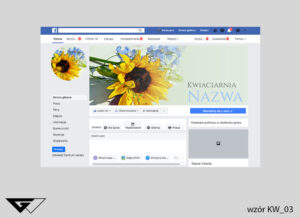 Cover na facebook kwiaciarnia, kwiaty, kolorowe, słonecznik, szybka realizacja