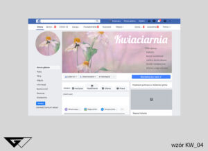 Cover na facebook kwiaciarnia, kwiaty, obrazek, szybka realizacja