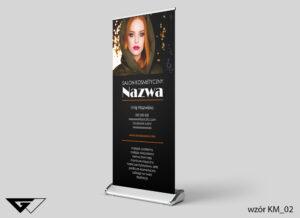 Rollup salon kosmetyczny, zdjęcie, czarny, szybka realizacja_wizualizacja