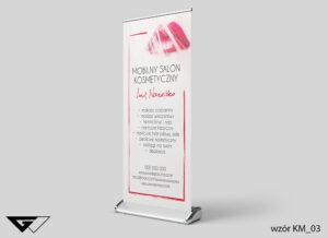 Rollup mobilny salon kosmetyczny, eleganckie, usta,szybka realizacja_wizualizacja