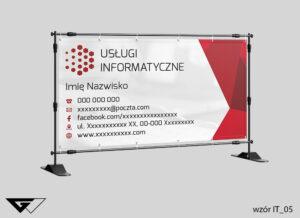 Baner usługi informatyczne, klasyczny, czerwony, szybka realizacja_wizualizacja