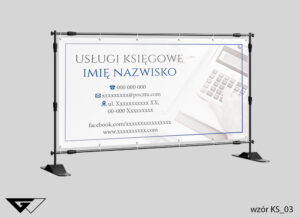 Baner usługi księgowe, kalkulator, projekt indywidualny, szybka realizacja