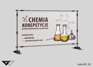 Baner chemia, korepetycje, probówki, fiolki, szybka realizacja_wizualizacja