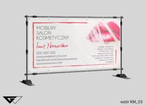 Baner mobilny salon kosmetyczny, eleganckie, usta,szybka realizacja_wizualizacja