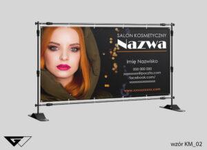 Baner salon kosmetyczny, zdjęcie, czarny, szybka realizacja_wizualizacja