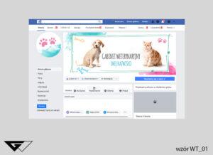 Tło na facebook gabinet weterynaryjny, pies, kot, kolorowe, szybka realizacja, indywidualny projekt Tło na facebook gabinet weterynaryjny, pies, kot, kolorowe, szybka realizacja, indywidualny projekt