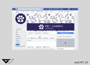 Tło na facebook weterynarz, pies, kot, królik, tanie wykonanie