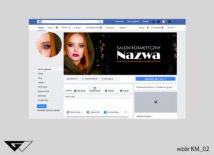 Tło na facebook salon kosmetyczny, zdjęcie, czarny, szybka realizacja_wizualizacja