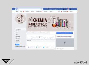 Tło na facebook chemia, korepetycje, probówki, fiolki, szybka realizacja_wizualizacja