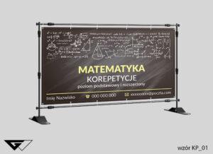 Baner matematyka korepetycje, zajęcia dodatkowe liczby, cyfry, działania