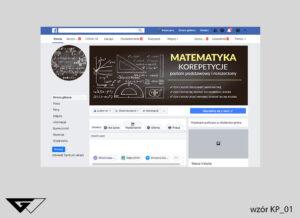 Tło na facebook matematyka korepetycje, zajęcia dodatkowe liczby, cyfry, działania