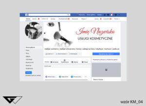 Tło na facebook usługi kosmetyczne, pędzle,zdjęcie, szyba realizacja_wizualizacja