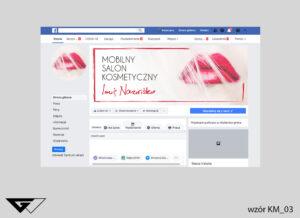 Tło na facebook mobilny salon kosmetyczny, eleganckie, usta,szybka realizacja_wizualizacja