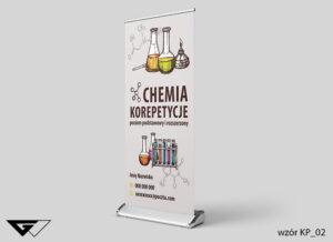Rollup chemia, korepetycje, probówki, fiolki, szybka realizacja_wizualizacja