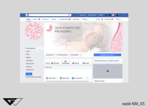 Tło na facebook salon kosmetyczny, kwiaty, obrazek w tle, szybka realizacja_wizualizacja