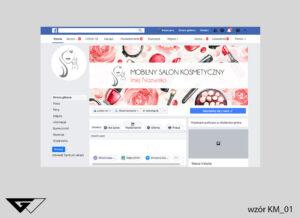 Tło na faebook mobilny salon kosmetyczny, obrazek, kosmetyki, rysunek, szybka realizacja_wizualizacja