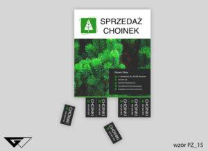 plakat_sprzedaż_choinek_ze_zdjęciem_zielony_elegancki_gotowe_wzory_Myślenice
